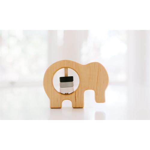 Wooden Elephant Rattle