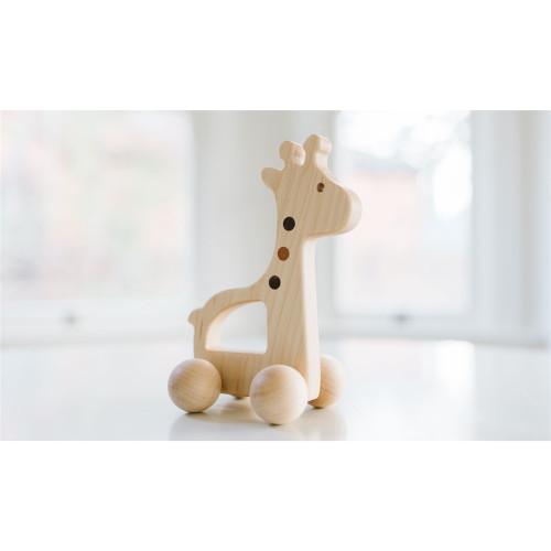 Wooden Push Pull Giraffe Toy