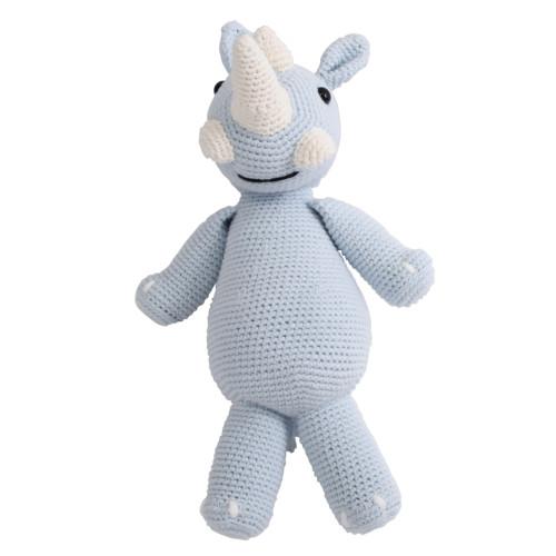 Rhino Stuffed Animal - Organic Baby Toy
