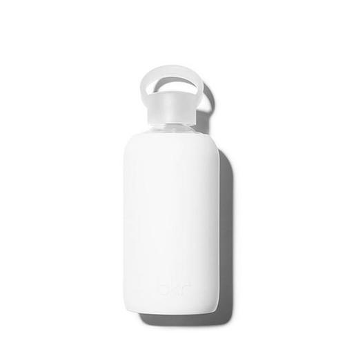 bkr Glass Water Bottle - White 500ml