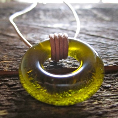 Gift for Wine Lover - Recycled Bottle Necklace