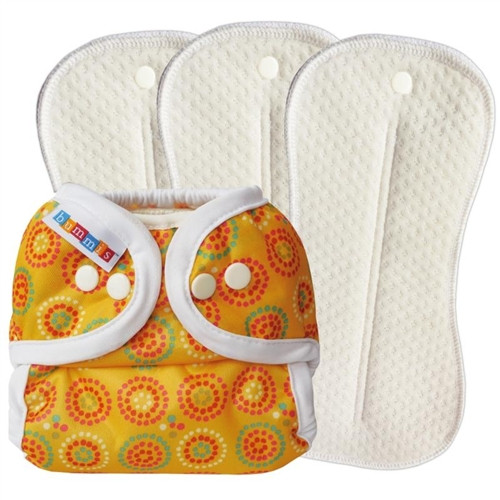 Cloth Diapering Deluxe Set Yellow (Size 2 - 20-35lbs)
