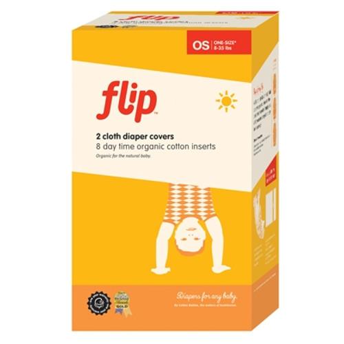Flip Organic Cloth Diapering Starter Set - Girl Colors, 8-35lbs