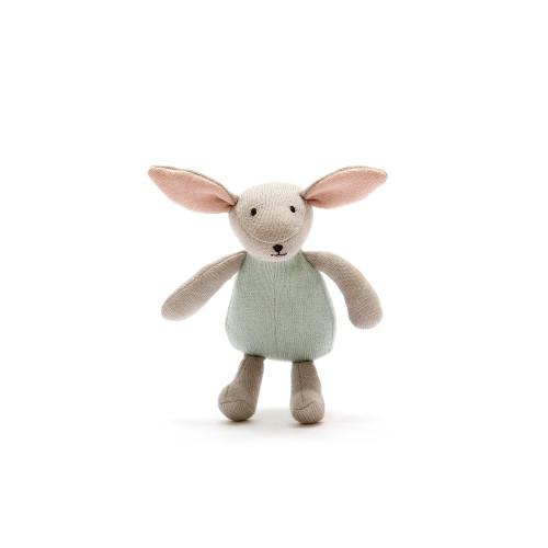 Hand Knit Organic Stuffed Bunny