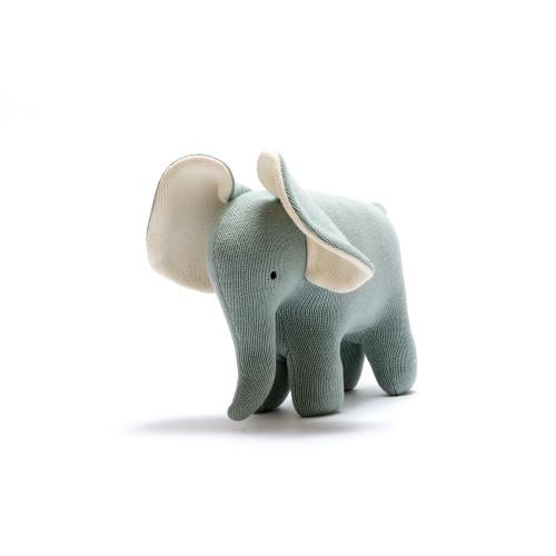Hand Knit Organic Stuffed Elephant