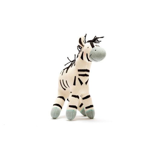 Large Organic Stuffed Zebra