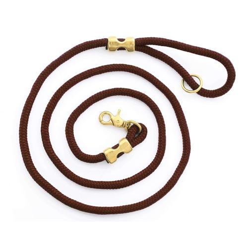 Rope Dog Leash - Walnut 6'