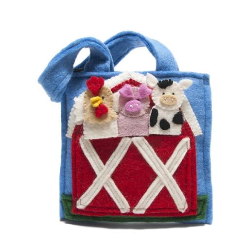 Farm Animal Toys Puppet Bag