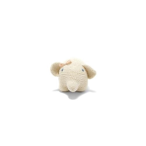 Organic Elephant Toy with Bow