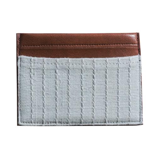 Global Goods Credit Card Holder - Fair Trade Grey & Leather