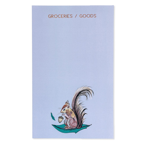 Grocery List - Squirrel Notepad