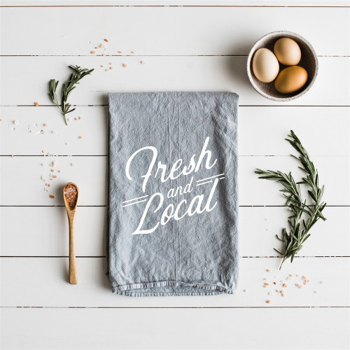 Linen Tea Towel - Fresh & Local
