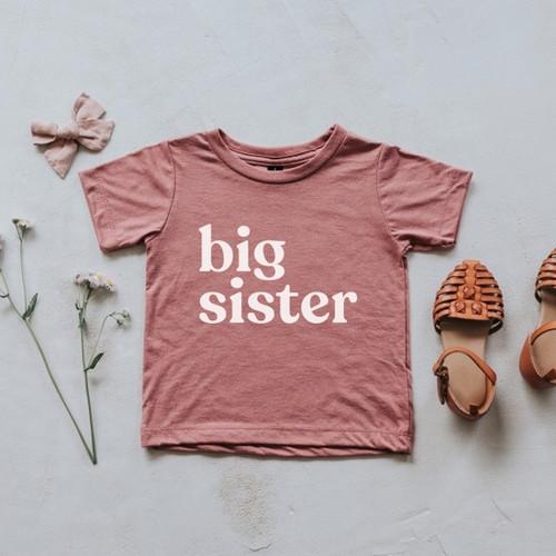 Big Sister T-Shirt - Mauve, 2T