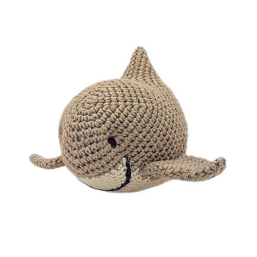 Organic Shark Rattle Baby Toy