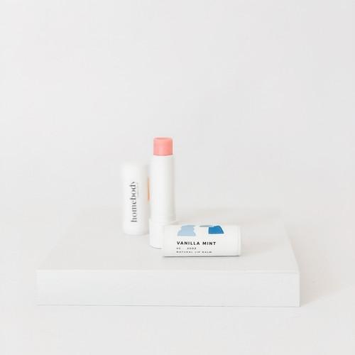 Organic Lip Balm - Vanilla Mint, Blush