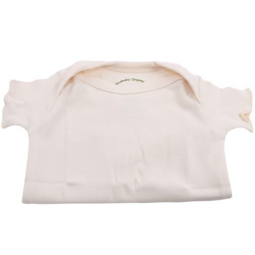 Organic Baby T-Shirt - Natural, 0-3m