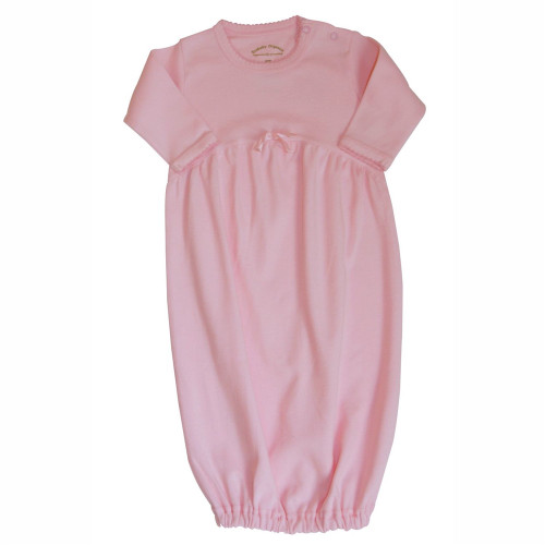 Organic Baby Gown - Pink, 0-6m