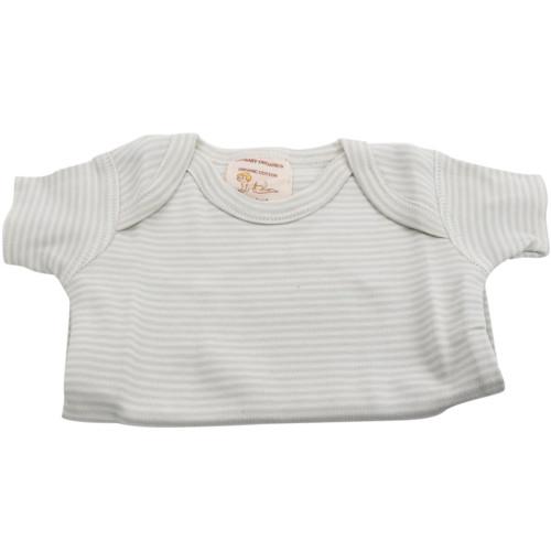 Organic Baby T-Shirt - Sage Stripe, 0-3m
