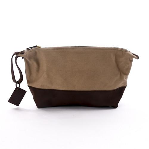 Meyelo Canvas Toiletry Bag - Natural Brown