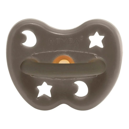 Natural Rubber Pacifier - Round, Shiitake Grey, 3-36