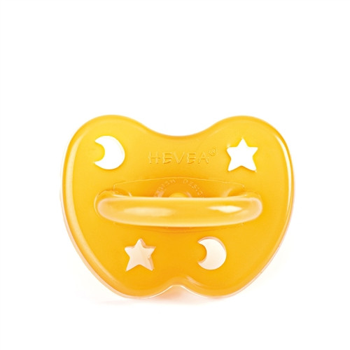 Natural Rubber Pacifier - Orthodontic, Star & Moon, 0-3M