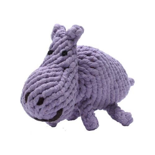 Rope Dog Toy - Purple Hippo