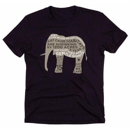 Organic Tees for Men - Save The Elephants