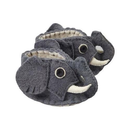 Elephant Baby Booties - Fair Trade