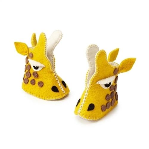 Giraffe Baby Booties - 6-12 Months