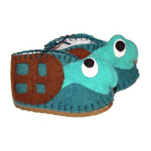 Sea Turtle Baby Booties - 6-12 Months