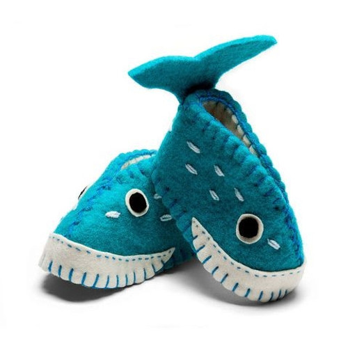 Whale Baby Booties - 6-12 Months