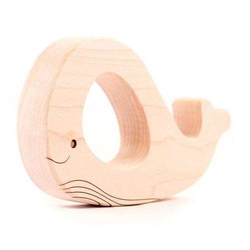 Wooden Whale Teething Toy