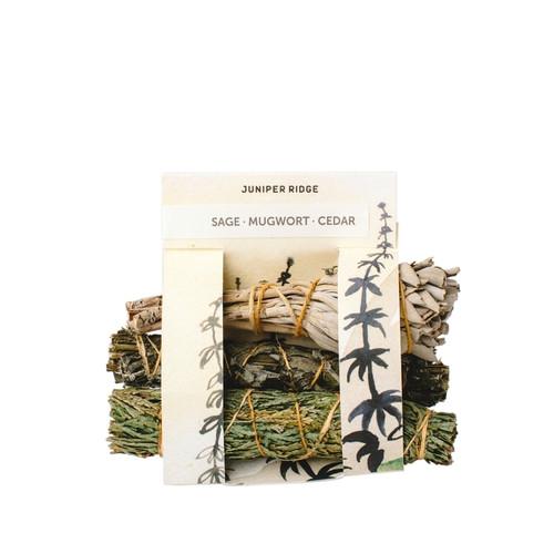 Natural Incense - Sage, Mugwort & Cedar