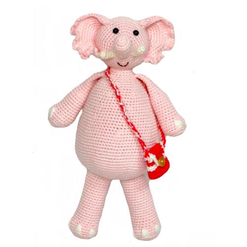 Organic Stuffed Toy Elephant - Pink