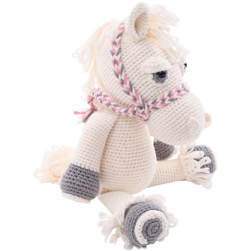 Pink Horse Stuffed Animal - Organic Baby Toy
