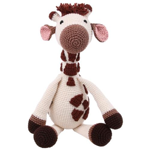 Organic Hand Knit Giraffe Toy