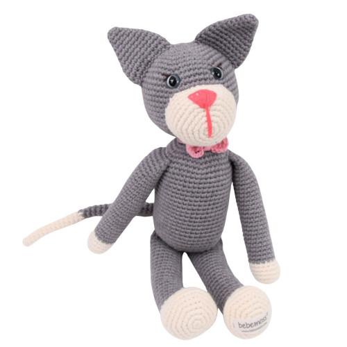 Fair Trade Stuffed Animals - Grey Cat