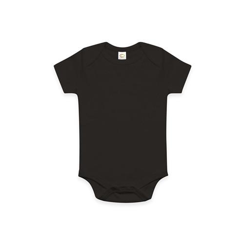Organic Baby Onesie - Black 0-3m