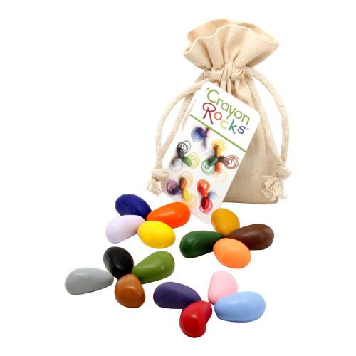 Crayon Rocks - 16 Colors in Muslin Bag