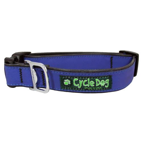 Reflective Collar with Bottle Opener - Blue, Medium (30-70lbs)