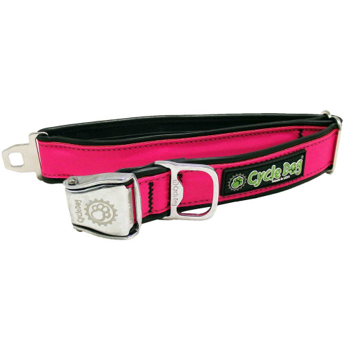 Reflective Collar with Bottle Opener - Pink, Medium (30-70lbs)