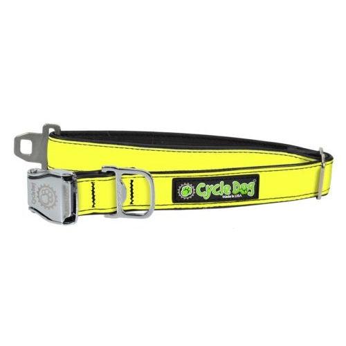 Reflective Collar with Bottle Opener - Yellow, Medium (30-70lbs)