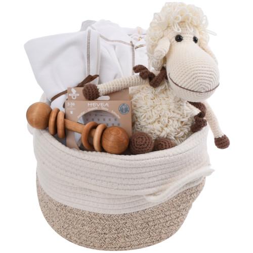 Baby Gift Basket - Innocent Lamb