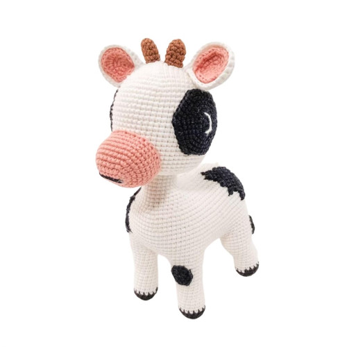 Organic Hand Knit Cow Toy