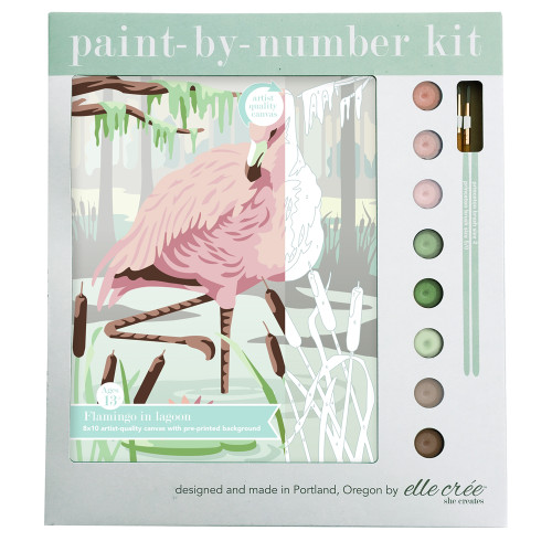 Paint-By-Number Kit - Flamingo