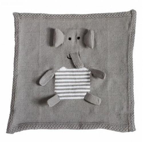 Organic Security Blanket - Gray Elephant Blankie