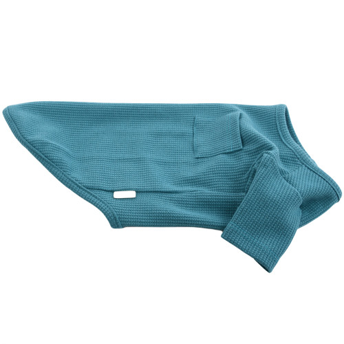 """Organic Dog Clothes - Aqua T-Shirt - Large (12""""L)"""