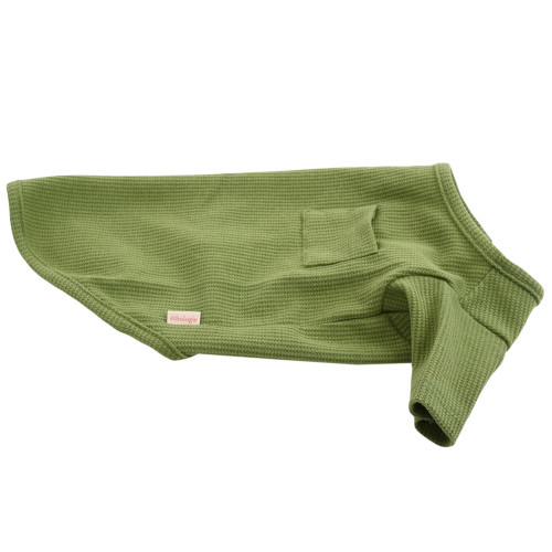 "Organic Dog Clothes - Green T-Shirt - Large (14""L)"