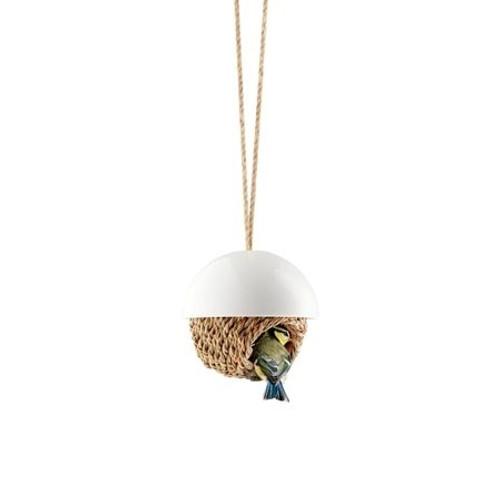 Hanging Woven Bird House