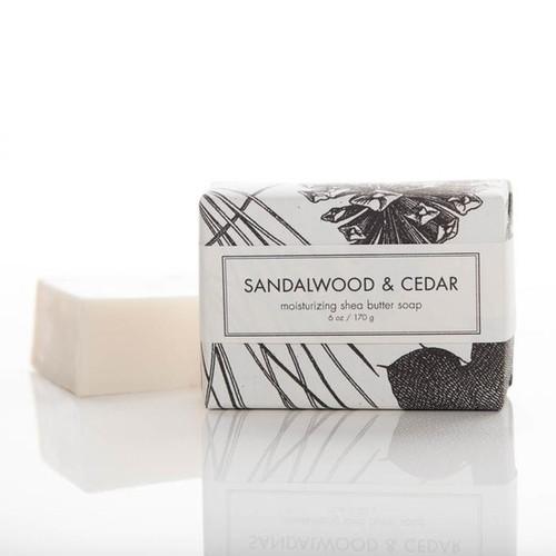 Shea Butter Bath Bar - Sandalwood and Cedar